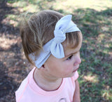 TOP KNOT HEADBAND - LIGHT GRAY HEADBAND - LITTLE FOOT CLOTHING CO.