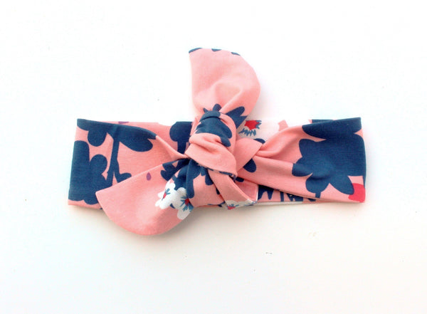 TOP KNOT HEADBAND - PINK LUNAR HEADBAND - LITTLE FOOT CLOTHING CO.