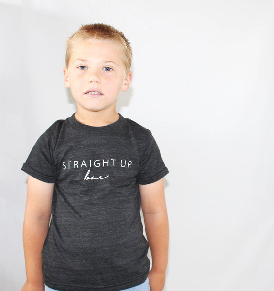 STRAIGHT UP BAE - GRAPHIC TEE (Baby, toddlers, little kids & big kids).