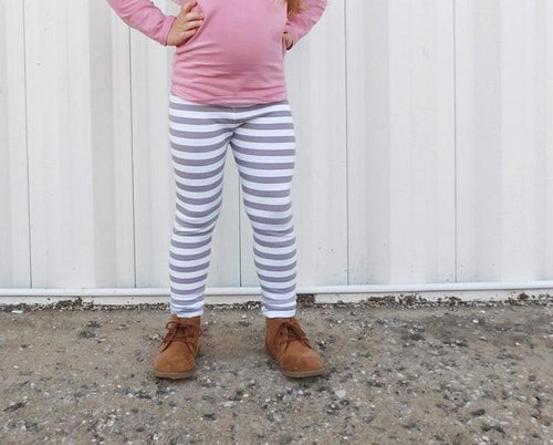 UNISEX THIN STRIPE LEGGINGS - 3 COLOR OPTIONS - LITTLE FOOT CLOTHING CO.