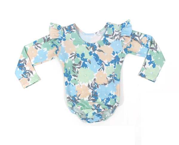 GIRLS LONG SLEEVE LEOTARDS - 5 OPTIONS - LITTLE FOOT CLOTHING CO.