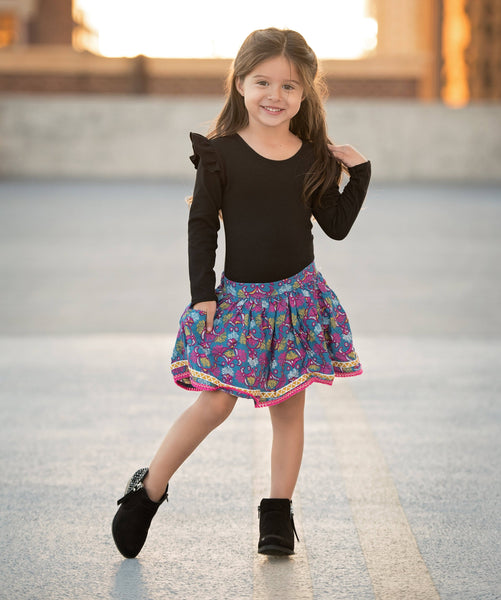 Girls long sleeve leotard - 5 options - LITTLE FOOT CLOTHING CO.
