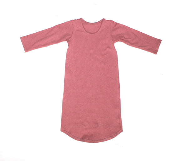 Girls Dusty Rose Long Sleeve Maxi Dress - LITTLE FOOT CLOTHING CO.