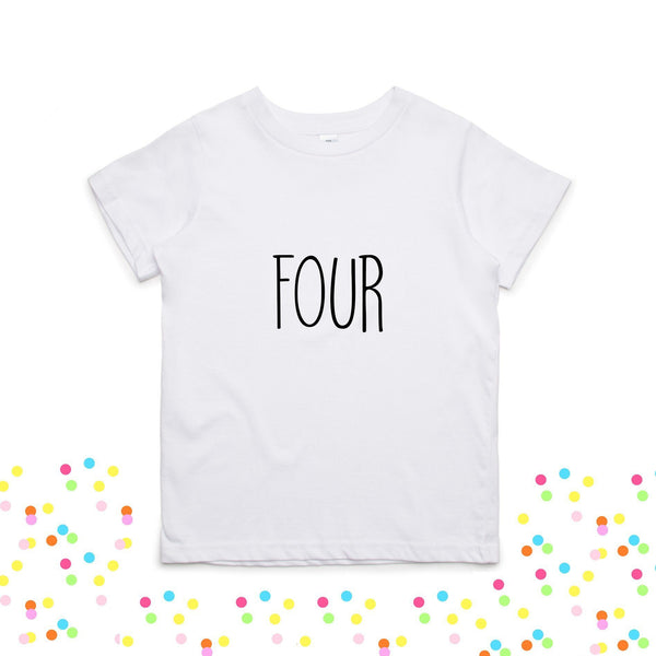 Birthday Graphic Tee - 4 Options - LITTLE FOOT CLOTHING CO.