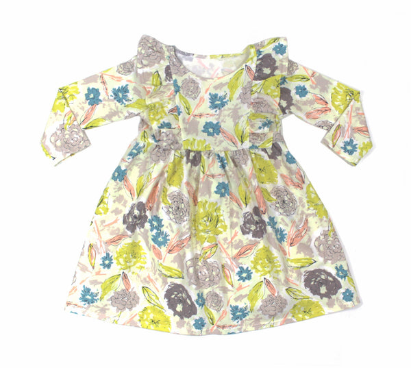 Girls Floral Poppy Dress - 4 Options - LITTLE FOOT CLOTHING CO.