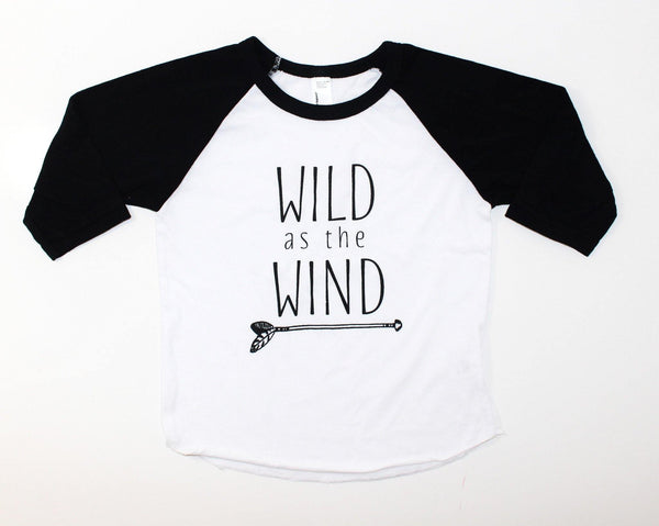 WILD AS THE WIND - GRAPHIC RAGLAN - LITTLE FOOT CLOTHING CO.