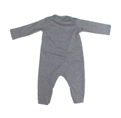 UNISEX BABY HEATHER GRAY SNAP ROMPER - LITTLE FOOT CLOTHING CO.