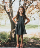 GIRLS HEATHER GRAY TANK DRESS - LITTLE FOOT CLOTHING CO.