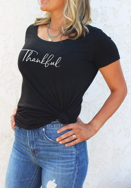 THANKFUL SCOOP NECK - MORE COLORS - LITTLE FOOT CLOTHING CO.