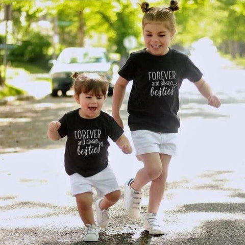 FOREVER AND ALWAYS BESTIES - GRAPHIC TEE (Baby, toddlers, little kids & big kids).