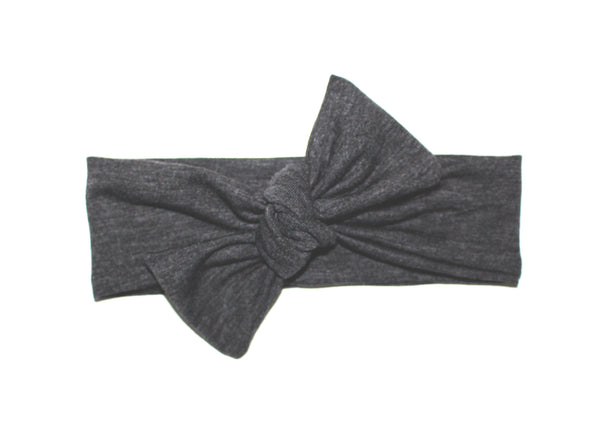 Heather Gray Bow Headband - LITTLE FOOT CLOTHING CO.