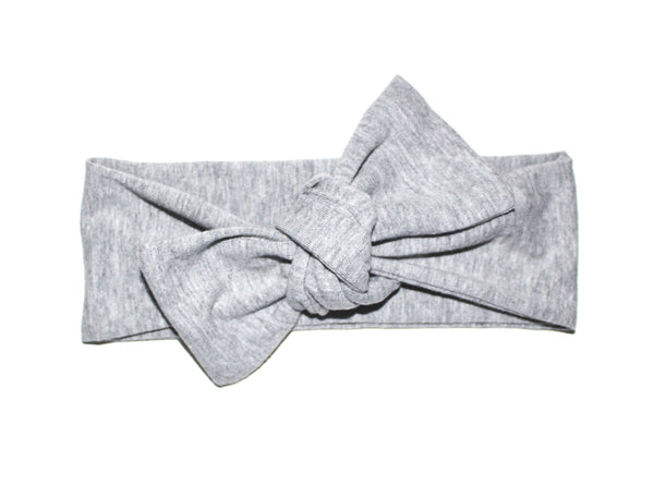 BOW HEADBAND - LIGHT GRAY - LITTLE FOOT CLOTHING CO.