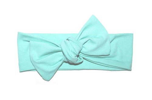 Teal Bow Headband - LITTLE FOOT CLOTHING CO.