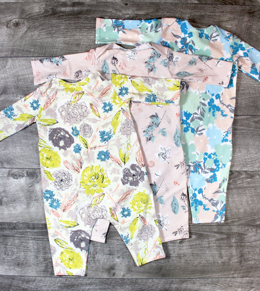 Baby Snap Romper - 4 Options - LITTLE FOOT CLOTHING CO.