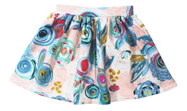 Girls Floral Skirt - 5 Options - LITTLE FOOT CLOTHING CO.