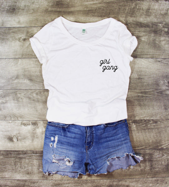 Women's Graphic Tee - Girl Gang - LITTLE FOOT CLOTHING CO.