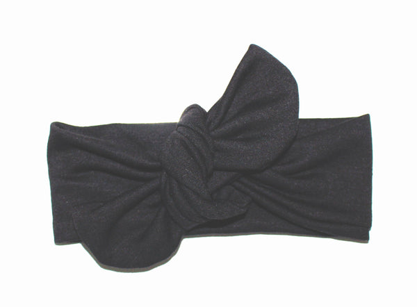 TOP KNOT HEADBAND - BLACK - LITTLE FOOT CLOTHING CO.