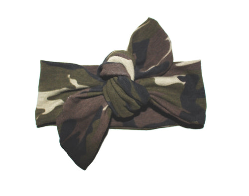 TOP KNOT HEADBAND - CAMO - LITTLE FOOT CLOTHING CO.
