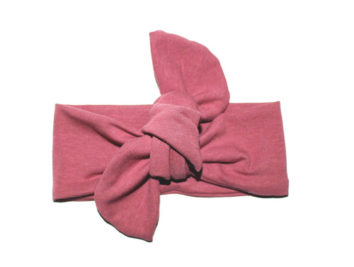 TOP KNOT HEADBAND - DUSTY ROSE - LITTLE FOOT CLOTHING CO.