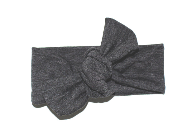 TOP KNOT HEADBAND - GRAY - LITTLE FOOT CLOTHING CO.