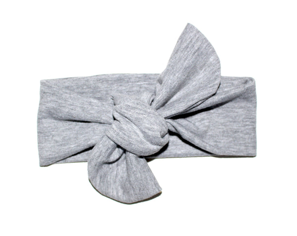 TOP KNOT HEADBAND - LIGHT GRAY - LITTLE FOOT CLOTHING CO.