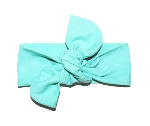 TOP KNOT HEADBAND - TEAL - LITTLE FOOT CLOTHING CO.