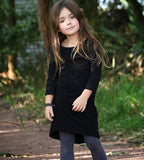 GIRLS SOLID COLOR LONG SLEEVE MAXI DRESS (0/3M - 6T) - 6 COLOR OPTIONS
