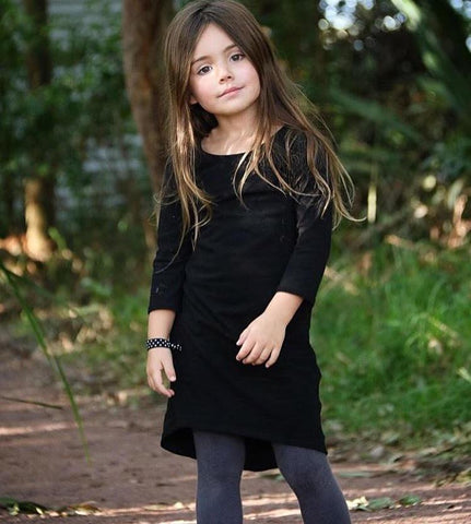 GIRLS LONG SLEEVE MAXI DRESS - SOLID COLORS (Baby girls, toddler girls, little girls & big girls). 5 COLOR OPTIONS