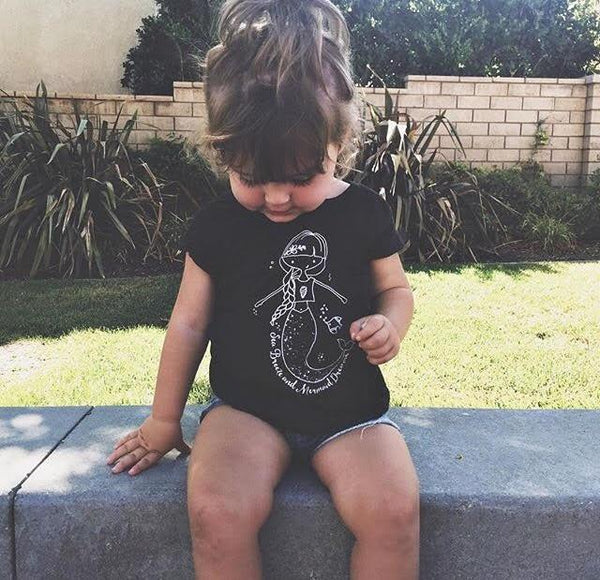 MERMAID DREAMS - GRAPHIC TEE - LITTLE FOOT CLOTHING CO.
