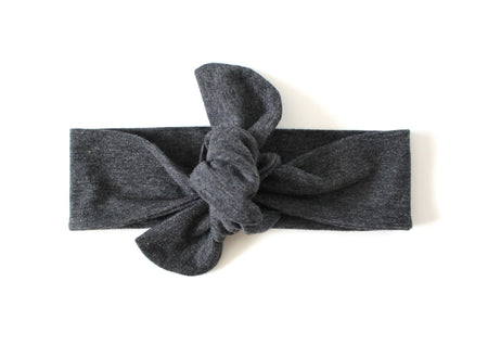 TOP KNOT HEADBAND - BLACK PATCH HEADBAND