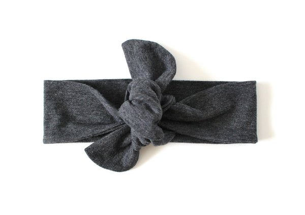 TOP KNOT HEADBAND - HEATHER GRAY HEADBAND (One size only) - LITTLE FOOT CLOTHING CO.