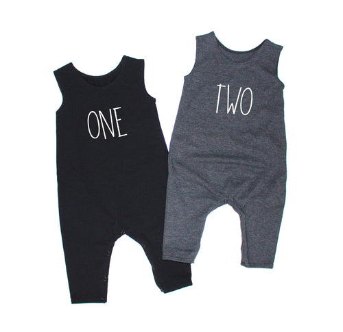 Birthday Unisex Tank Romper - LITTLE FOOT CLOTHING CO.
