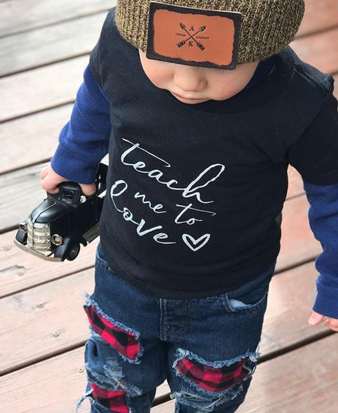 TEACH ME TO LOVE - GRAPHIC TEE - 2 SHIRT OPTIONS - LITTLE FOOT CLOTHING CO.