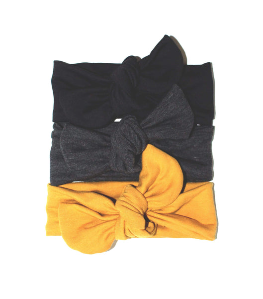 TOP KNOT HEADBAND - MUSTARD - LITTLE FOOT CLOTHING CO.