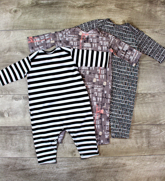 Baby Snap Romper - 3 Options - LITTLE FOOT CLOTHING CO.