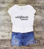 WILDFLOWER POWER ROSE SCOOP NECK - 2 SHIRT OPTIONS - LITTLE FOOT CLOTHING CO.