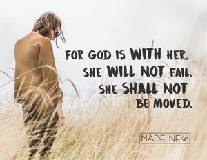 God is with her.
