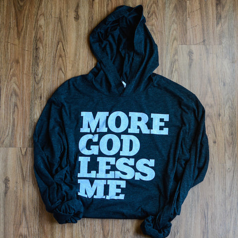 Unisex More God Less Me Lightweight Hoodie