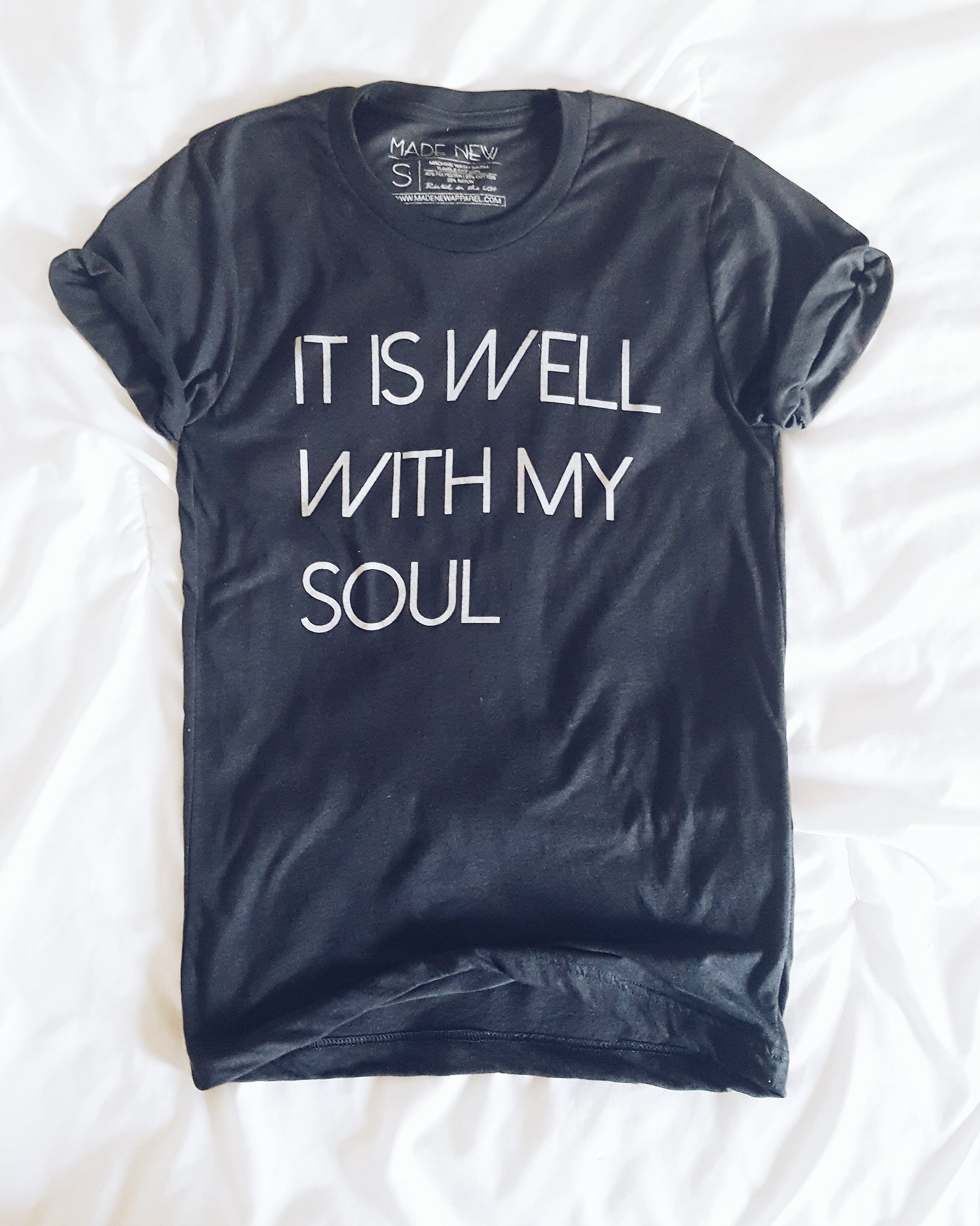 It Is Well With My Soul - Charcoal Crew Neck Tee (Unisex)