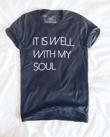 It Is Well With My Soul - Charcoal Crew Neck Tee