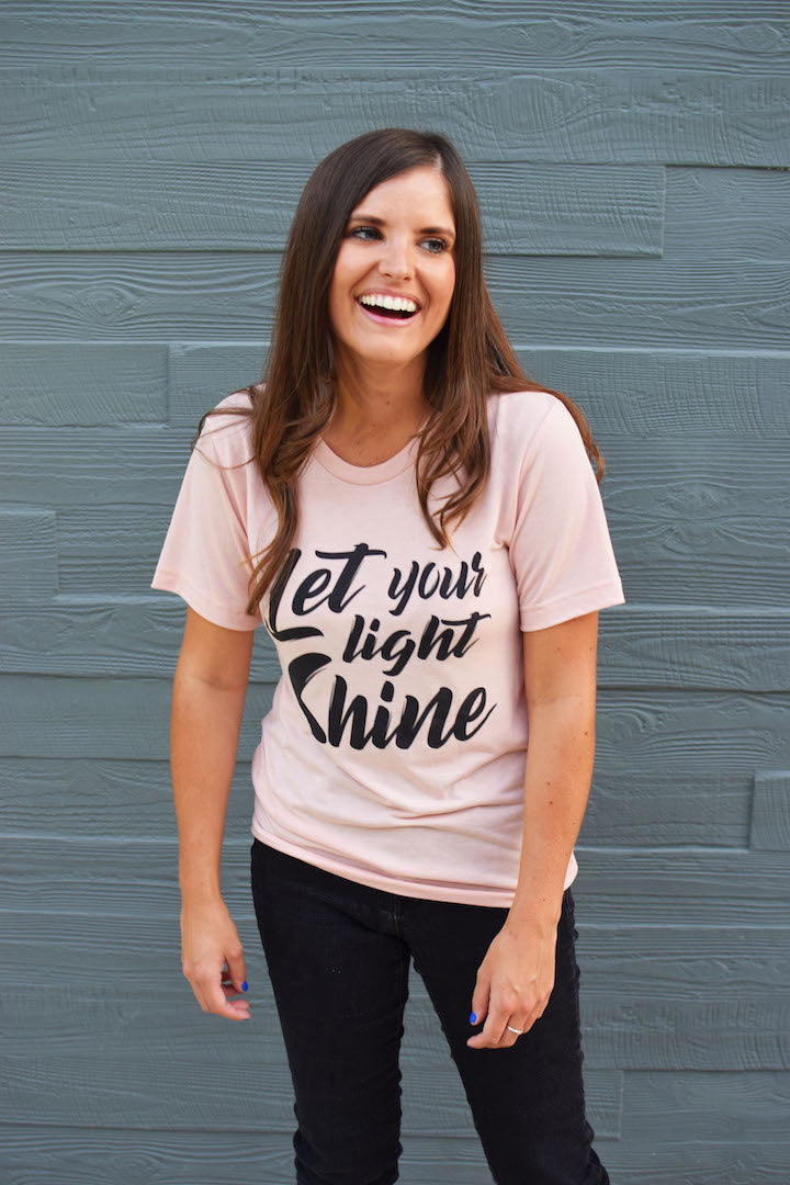 Let Your Light Shine Pink Tee