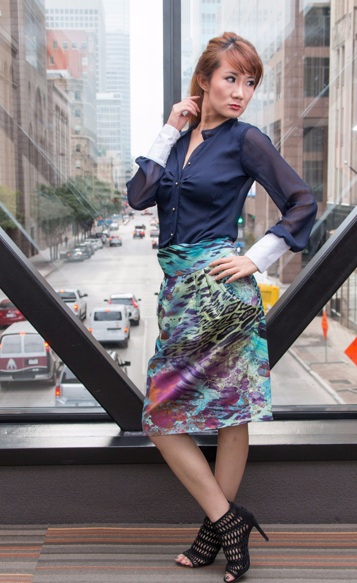 SS1711A Multi-Colored Skirt