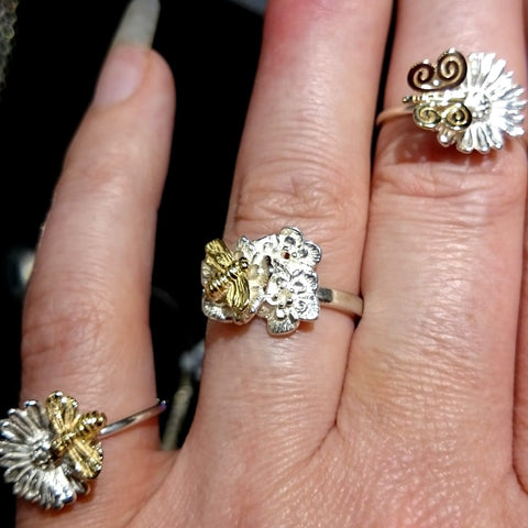 A few stacking range from the Oops A Daisy Collection by Irish Jewellery Designer Elena Brennan.