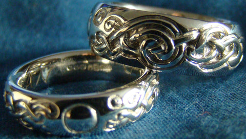 Bespoke Wedding Bands handcrafted and designed by Elena Brennan Jewellery in Cavan Ireland