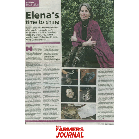 An artlicle in the Farmer's Journal Country Living Magazine featuring Irish Jewellery Designer Elena Brennan.