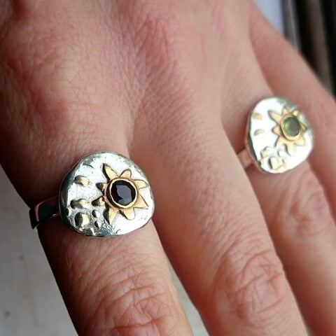 Handmade statement rings Elena Brennan Jewellery Seascapes Collection.