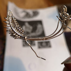 Starting to wire the base of the Bespoke Military Brooch.