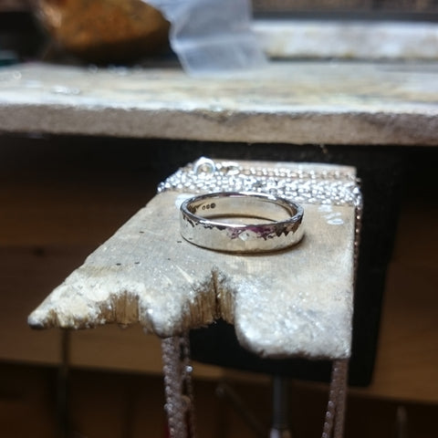 Simple sterling silver band ring by Elena Brennan Jewellery.