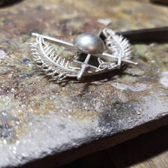 Slowly but surely, the Bespoke Old Military Brooch is coming to life at Elena Brennan Jewellery.