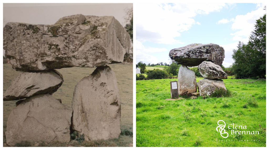 The Aughnacliffe Dolmen in Co. Longford, the inspiration for the bespoke pendant.
